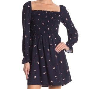 Elodie   Prairie Rose Smocked Long Sleeve Dress L